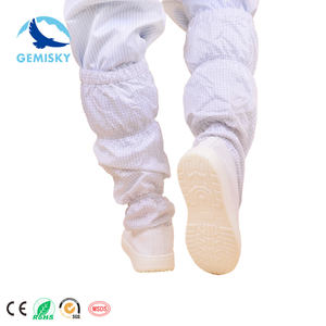 PVC Sole Blue ESD Fabric Cleanroom Shoes Safety Long Boots