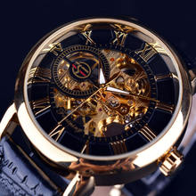 Forsining Brand Fashion Wrist Watches Skeleton Dial Precise Hand Mechanical Movement Men Luxury Leather Strap Watch Cheap Price