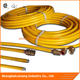 yellow stainless steel flexible natural gas hoses and fittings