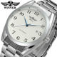 Trendy Made In China T-winner Brand Automatic Blue Analog Luxury White Mechanical Watches For Men