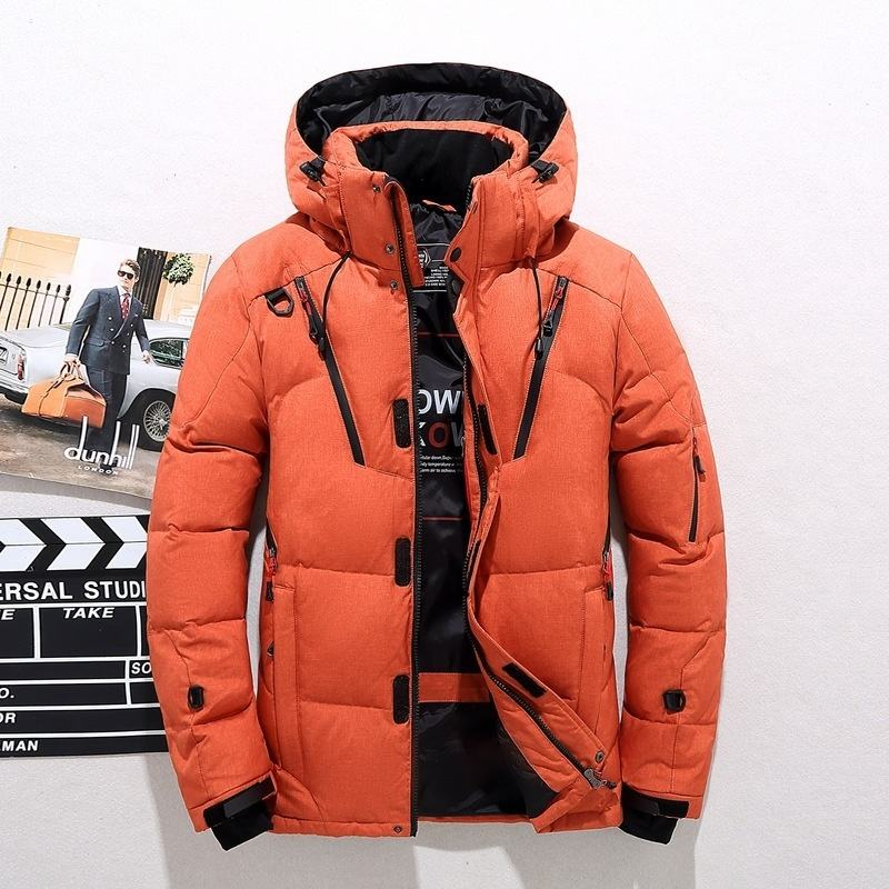 High Quality Men's Short Winter Outdoor Sports Hooded Jacket Thick Warm Coat Fashion Duck Down Jacket