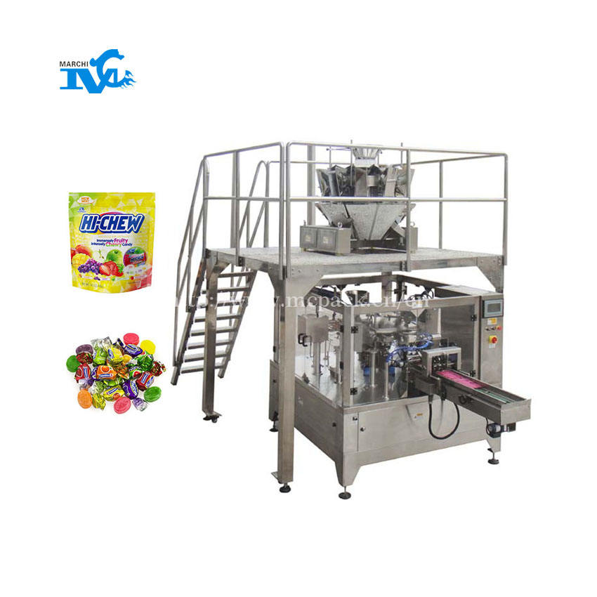 Marchi hard candy mix fully auto weighing and filling machine price