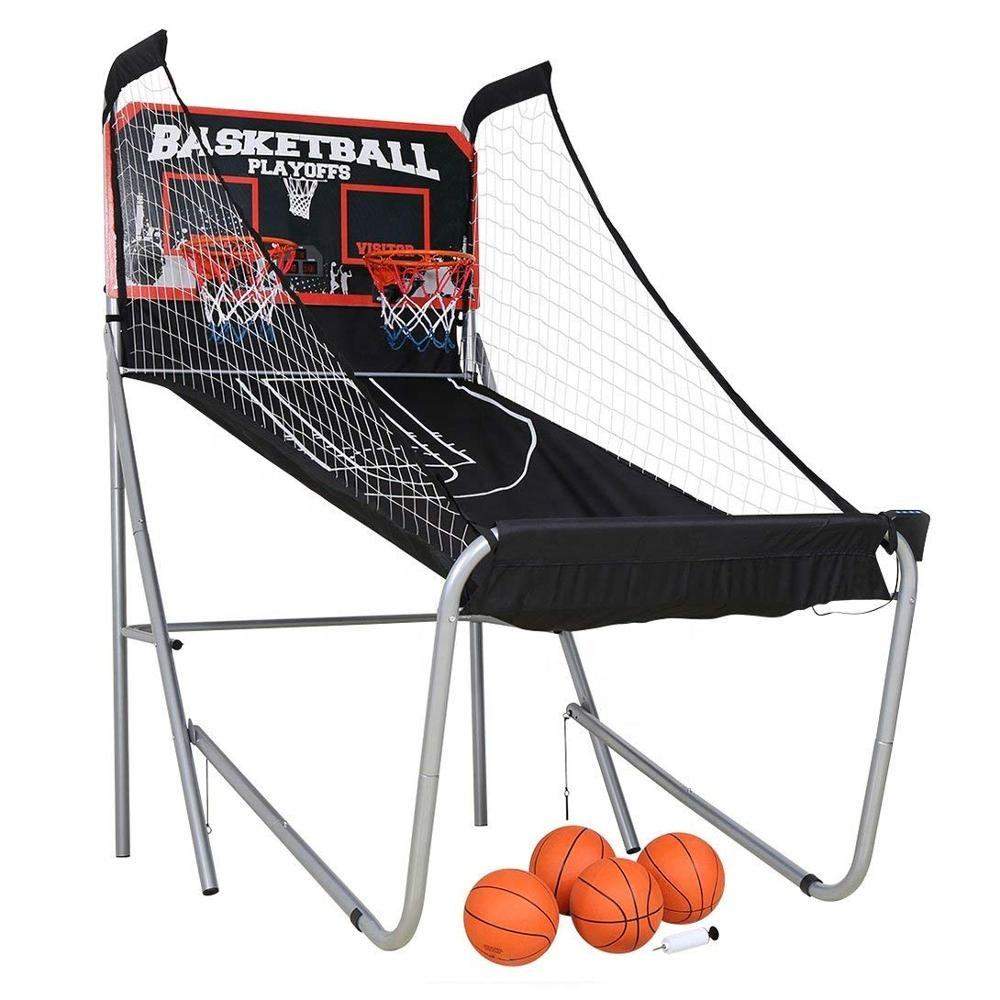 To strengthen and durable Indoor Foldable Arcade Basketball Shooting Machine