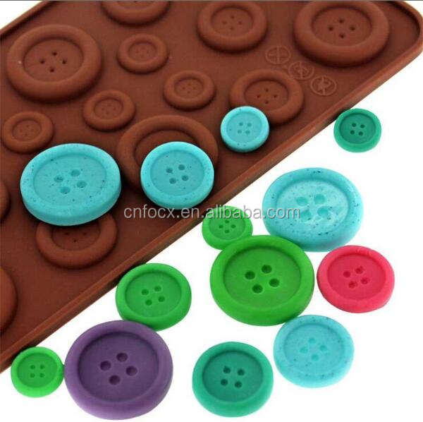 Button Shape Silicone Mold / DIY Baking Cake Decorating Tools / silicone ice trays