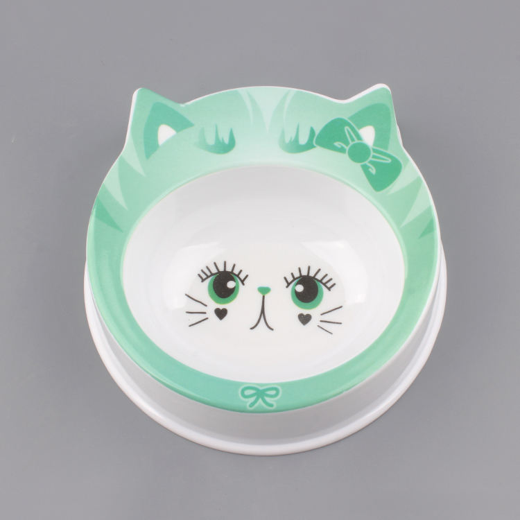 Melamine Dog Bowl Cute Cartoon Pattern Single Melamine Pet Bowl