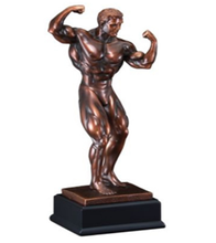 factory custom-made handmade carved fashion resin funny bodybuilding trophies