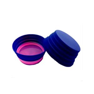 Food grade pet accessories silicone foldable pet color changing bowl