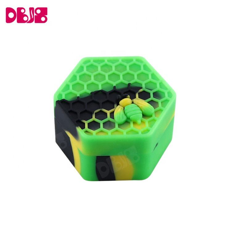 Bee Silikon container hexagon nach stash box unkraut rauch Glas Tabak wachs container
