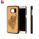 Real Cherry Wooden Plastic Case Phone Cover For Samsung Galaxy S7 PC Cover Cases