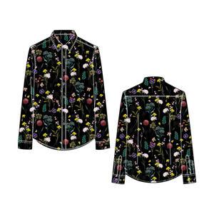Custom Digital Printing Man Button Up Shirt/Button Down Shirt Men