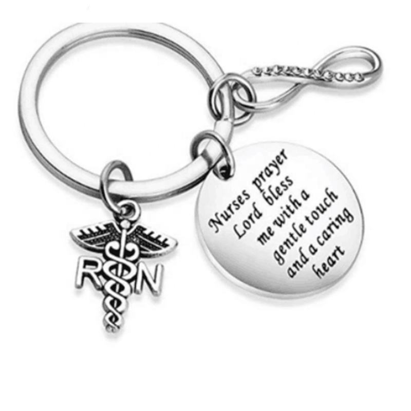 medical Stethoscope inspirational charms RN angel wing Bangle bracelet for nurse gifts