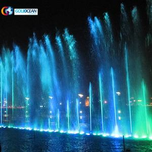 100M Large Outdoor Music Dancing Digital Swing Floating Water Fountain Show