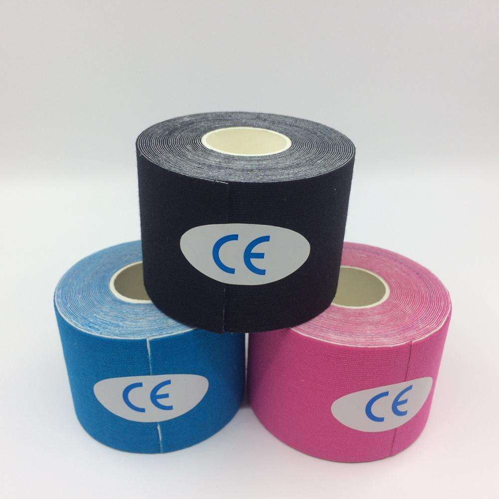 Cotton 5cm 5m Kinesiology Tape Elastic Adhesive Therapy Bandage