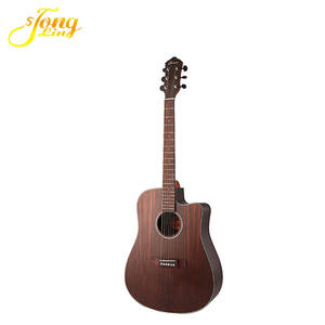 Hand-rubbed finish antique style acoustic guitar