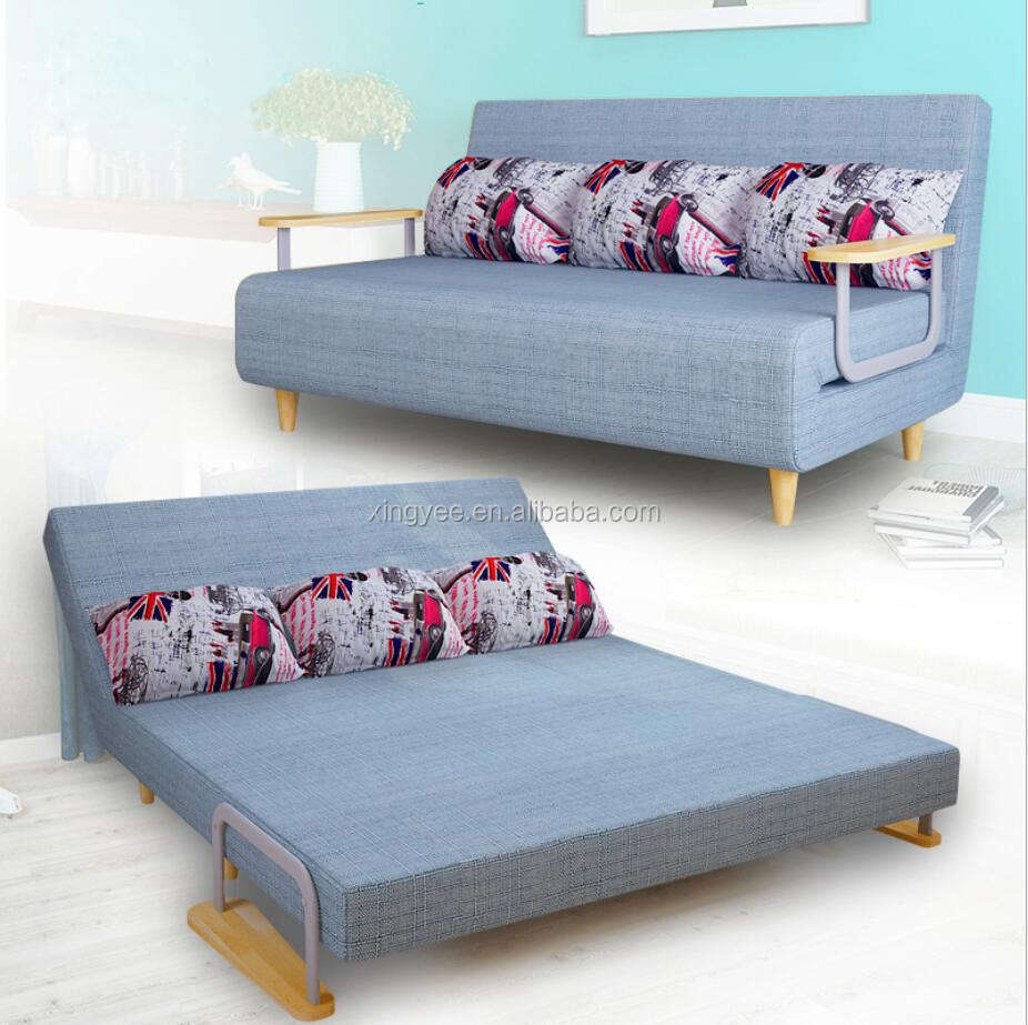 Modern Cum Sofas Bed Small Living Room Furniture Fabric foldable beds sofa hotels transformer single seat folding sofa bed