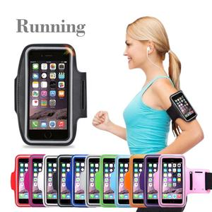 Mobile phone Waterproof cell phone arm pouch bags sports running Arm Band Cover Protective case for iphone