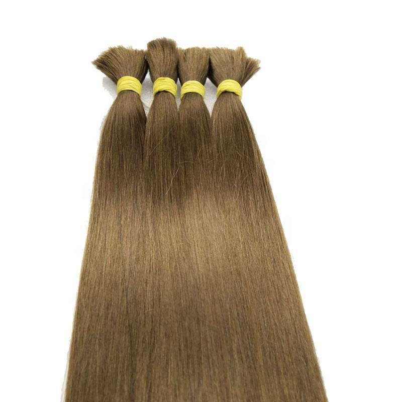 Products Hot Selling Human Hair Extension Vietnam Brown Natural Color Virgin Hair Bulk Hair