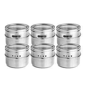 Good Quality 3OZ Round Magnetic Spice Tins with Transparent Window Pepper Metal Tin Box