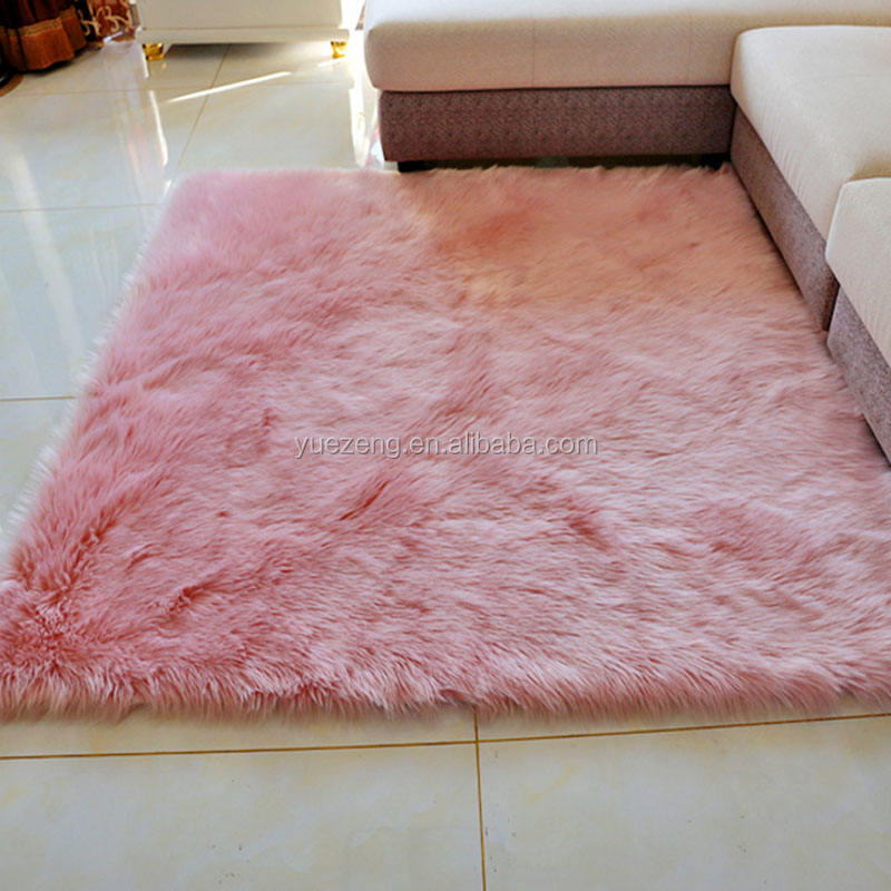 Photographing with white wool carpet faux fur mat Home decor luxury shag 100% polyester faux rabbit fur carpet