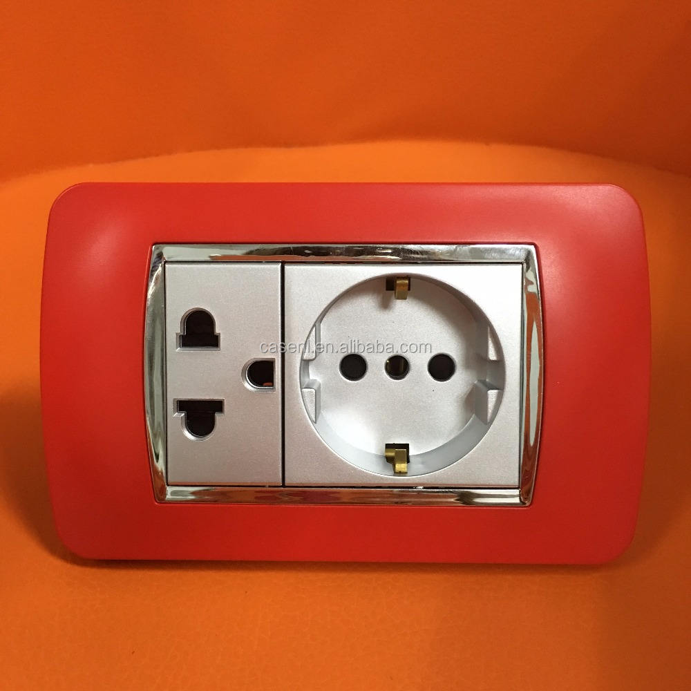 120 size Chinese red color electric socket