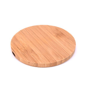 Hot sale bamboo wooden fast wireless charger for Samsung Note 8 S7 S8 and for iPhone 8/plus/X