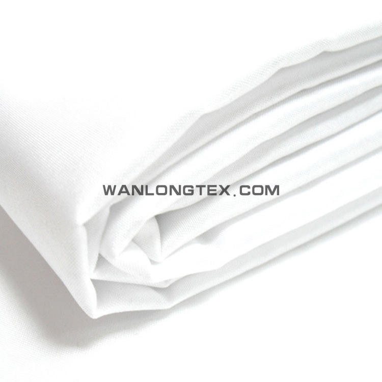 Bleached wide width broad twill plain micro fiber polyester peach skin fabric 110gsm for quilt bedding