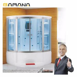 Electric Enclosure Seat Stall Rain Hand Steam Sauna Bathroom Shower Combination Lowes Cabin Set