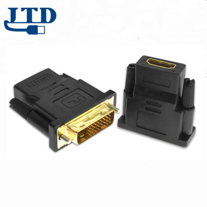 DVI D 24+1 25 Pin Male to HDMI Female Adapter Gold Plated Converter For HDTV TV