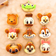 Mini Monkey Squishy Animal Slow Rising Brand Smile Face Keychain For Phone Or Bag