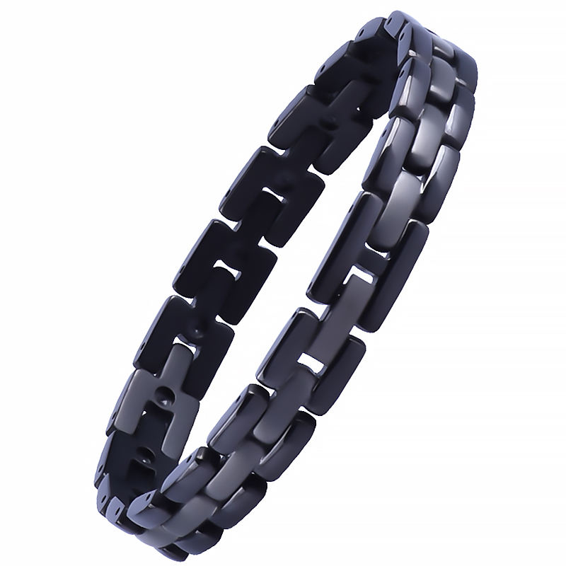 316l Man 조절 Black 보석 Logo Bangle Stainless Steel Bracelet