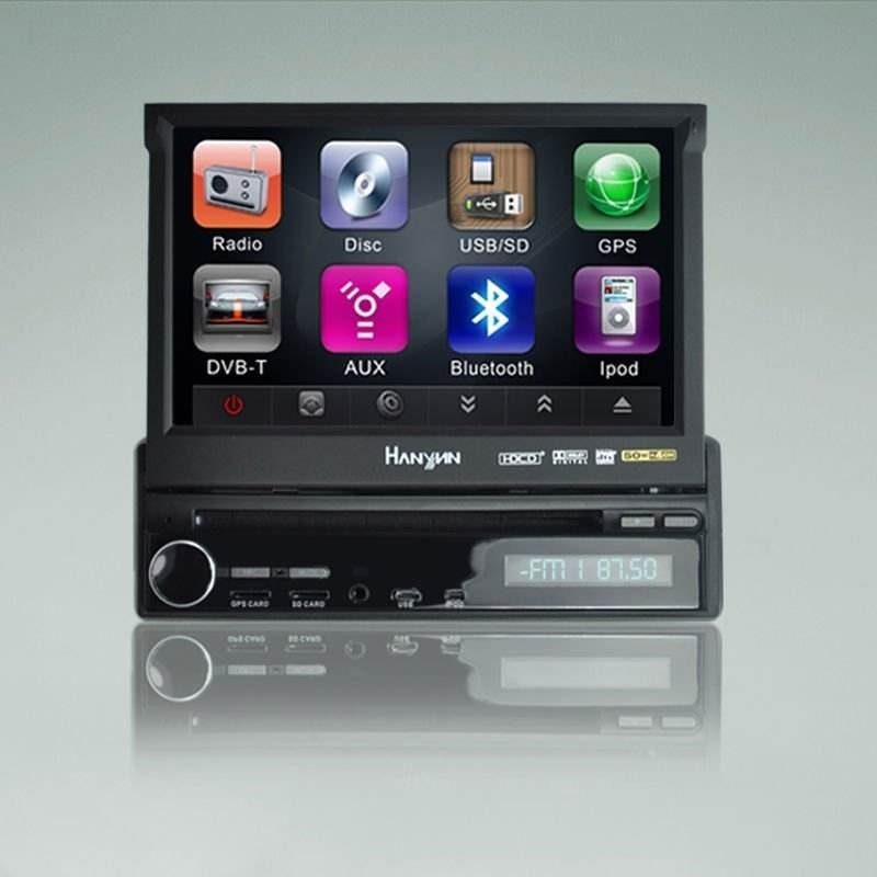 1 דין 7 נגן dvd לרכב bluetooth עם gps ( rds ) / טלוויזיה / רדיו ( am / fm ) / ipod / bluetooth / usb / mp3 / mp4 / sd / dvd / dvb - t (
