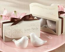 Love Birds Salt & Pepper Ceramic Shakers wedding giveaways and favor
