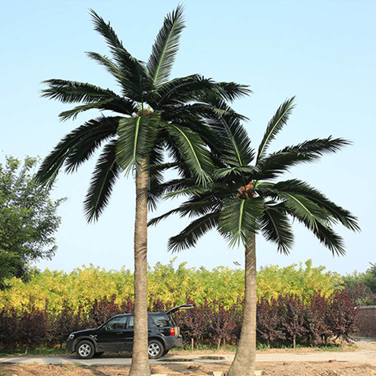 Anti-uv Anti-fading Fake Cheap Outdoor Artificial Coconut Tree, Swimming Pool Decorative Plastic Artificial Palm Tree