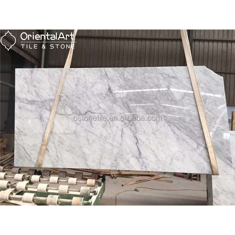 Polished Carrara white marble,cheap italian marble prices for sale