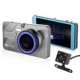 4.0 inch IPS Vehicle Car Black Box WDR Dual Lens Car Camera DVR Full HD 1080P Car Dash Cam
