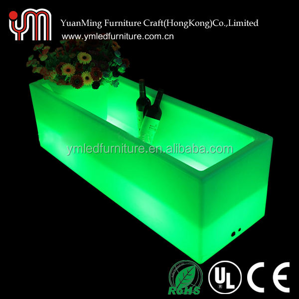 square lighting cooler/ice square container/led ice bucket