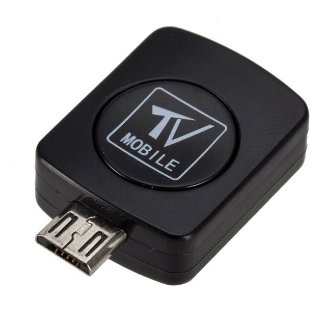 USB Mikro Set Top Box DVB-T TV Digital Mobile Tuner Stick Receiver Dongle untuk Ponsel Android
