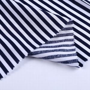 Free sample striped 100% cotton poplin printed fabric construction