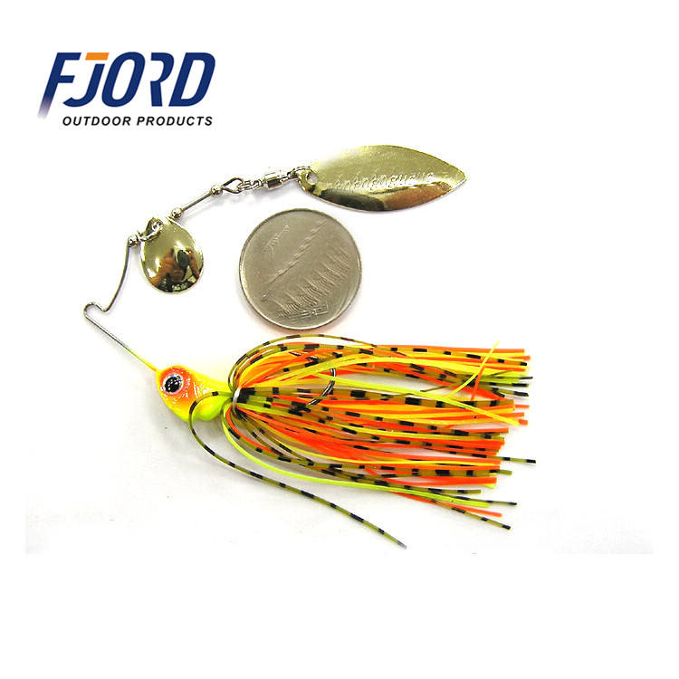 FJORD10g 3/8oz Metal Buzz Bait Wobblers Sinking Fishing Lure Spinnerbait Colorado Willow Blades Flash Chartre Spinner Lure