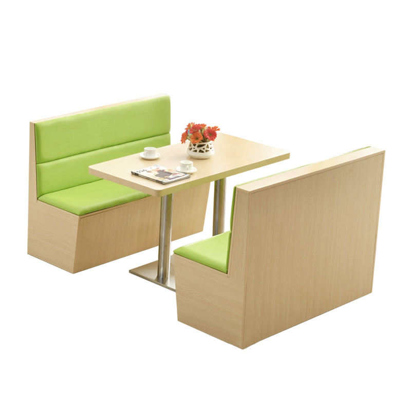 Commercial use Double side diner Booth seating restaurant furniture fast food sofa