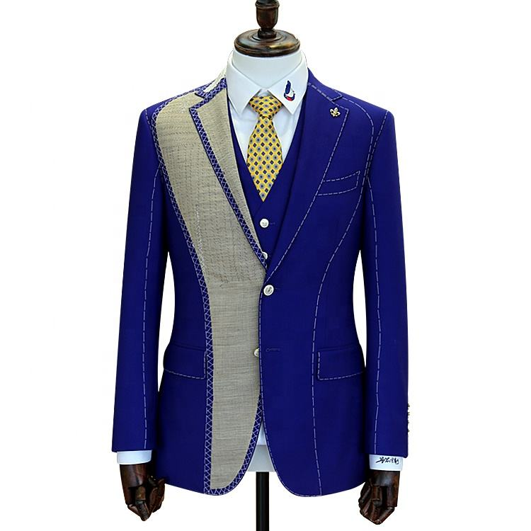 Window products full canvas 2 pieces custom bespoke tailor suits wool fabric men blazer and pant suits for men