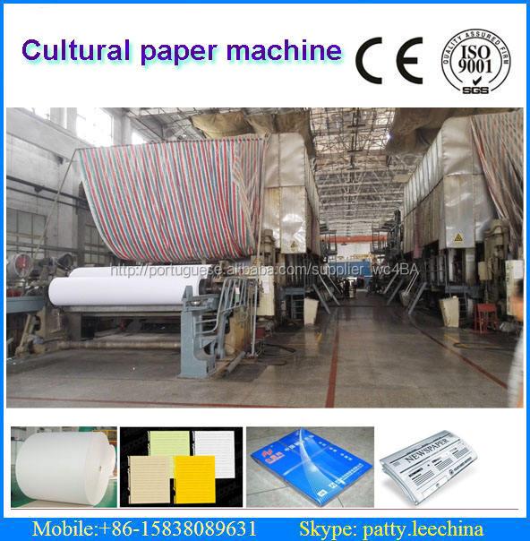 Venda quente turn key fourdrinier multi-secador pode impressão A4 papel que faz a máquina