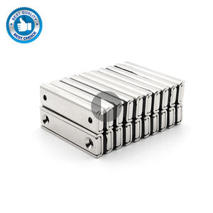 HC07B Deep Steel Latch M8 Mirror Abs Rectangular Screw Neodymium Countersunk Round Magnet With Holes Pot