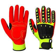 TPR Oilfield Safety Work Construction Industrial Protective Mechanical Guante Anti Cut Resistant Impact Mechanic Gloves