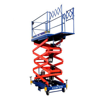 hydraulic mobile small platform electric scissor lift