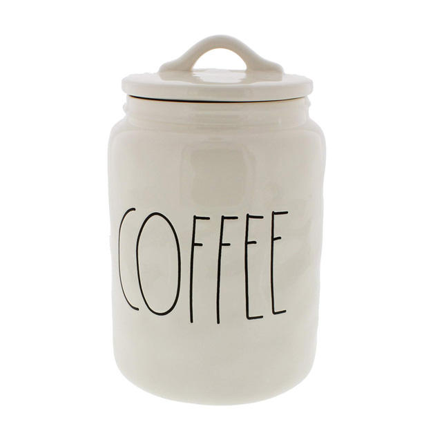 Customized ceramic coffee canister