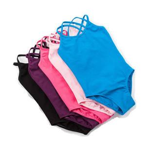 Wholesale Custom Logo Cheap Kids Girls Ballet Dance Wear Cotton Camisole Leotard