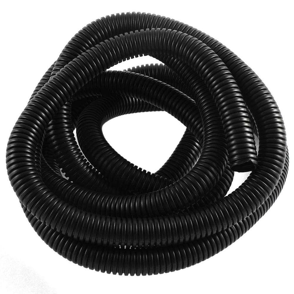 3//8 Flame Retardant Polypropylene Split Wire Loom Tubing Black 8.5mm ID - 50 Feet