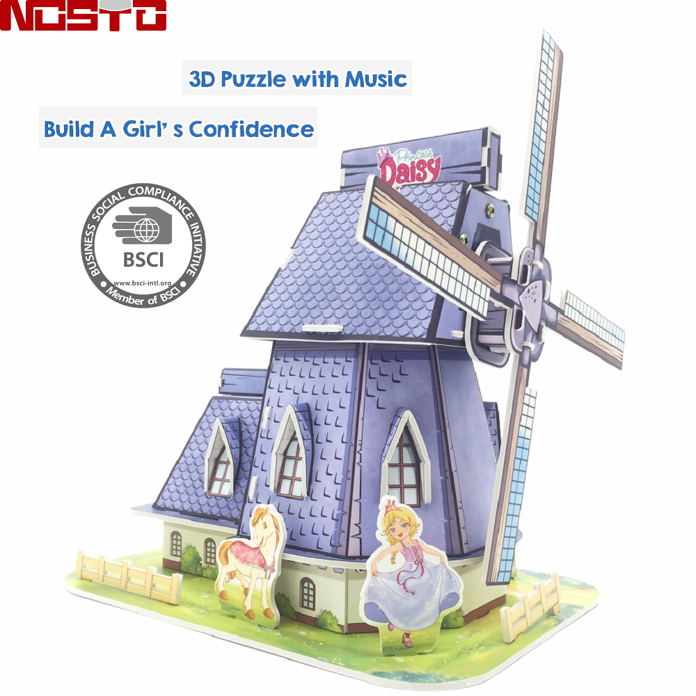 A Fabulous DIY School Project, Paint, Build, Play with This 3D Puzzle Windmill Educational Toy