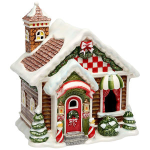 Ceramic Christmas Santa's Village Lighted House